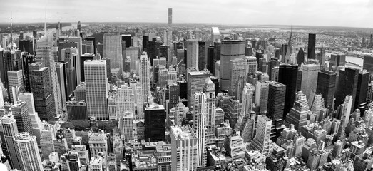 Fototapete - Manhattan Panoramic Aerial View