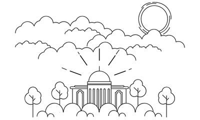 Monoline Mosque