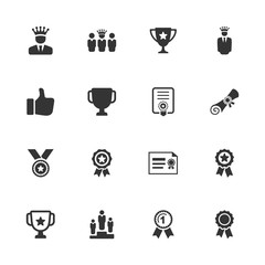 Awards and Achievements Icons - Blue Version