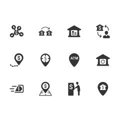 Bank Transaction Icons - Blue Version