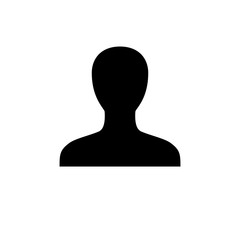 Default unisex profile icon, flat vector graphic on isolated background.