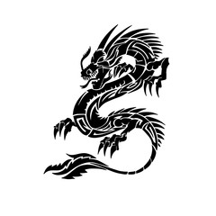 Flying dragon tattoo