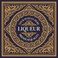 Vintage decorative liqueur card