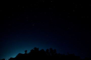 Night blue sky stars background