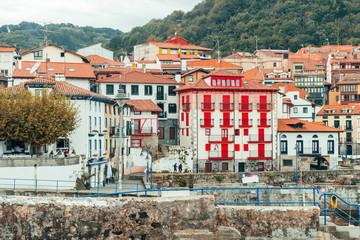 beautiful fishing town of mundaka, located at basque country