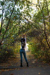 Young woman in nature (autumn)