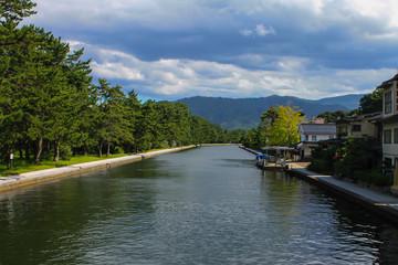 A River near Amanohashidate