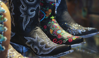 An Arrangement of Ladies Spangly Cowboy Boots