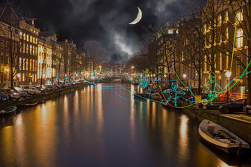 Amsterdam light festival in the canals from Amsterdam in the Netherlands