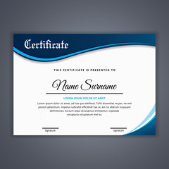 Certificate template in vector for achievement