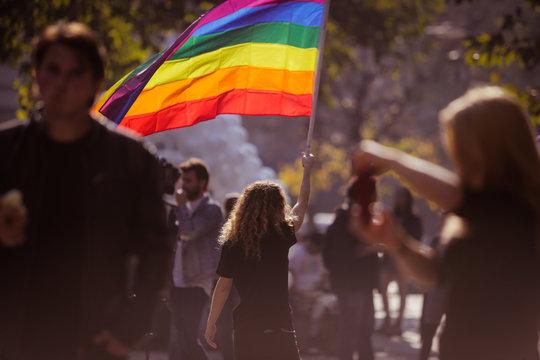 Gay pride protest