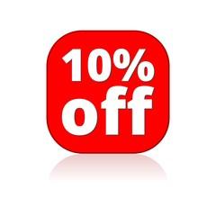 Coupon design, sale icon 10%