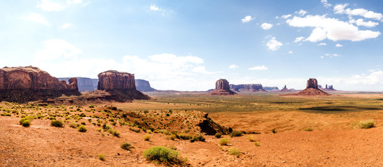Panorama: The Artist Point - Monument Valley scenic panorama - Arizona, AZ, USA