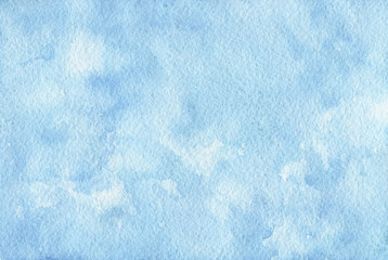 Hand painted blue watercolor background. Texture for your design.