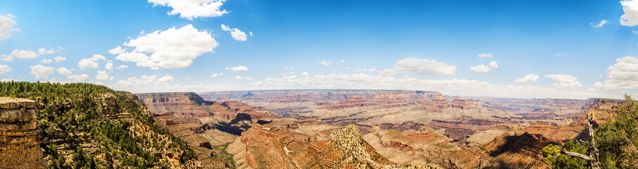 Panorama: Yaki Point - Grand Canyon, South Rim, Arizona, AZ, USA