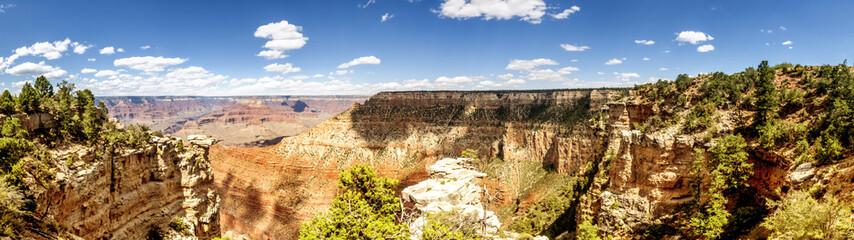 Panorama: Pipe Creek View - Grand Canyon, South Rim, Arizona, AZ, USA