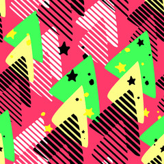 Urban seamless funky geometric pattern
