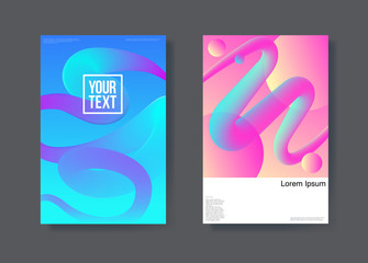 Abstract Futuristic Poster Liquid Background. Fluid Shapes Brochure Template. Banner Identity Card Design. Vector illustration