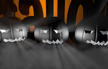 3d rendering pumpkin for halloween