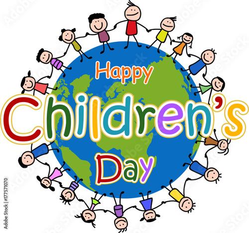 """""""Happy Children's day"""" Stok Görseller ve Telifsiz vektör ..."""