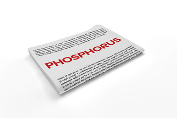 Phosphorus on Newspaper background