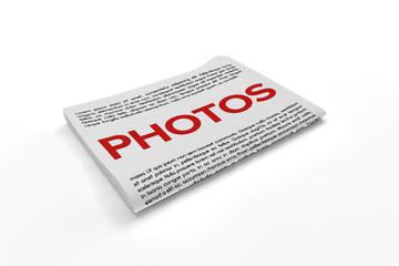 Photos on Newspaper background