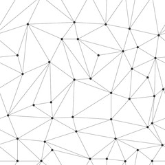 SEAMLESS POLYGON VECTOR PATTERN. OUTLINE TRIANGLE TRENDY BACKGROUND