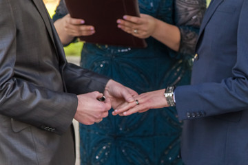gay wedding ring ceremony