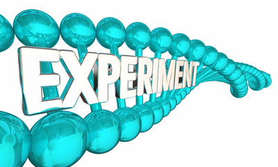 Experiment DNA Scientific Method Genes Research Trial 3d Illustration