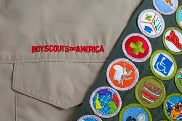 Boy Scout uniform and sash