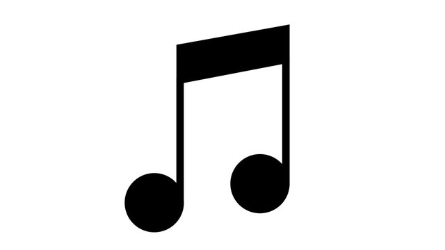 musical note icon black