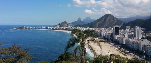 In de dag Rio de Janeiro Panoramic view of Copacabana Rio de Janeiro Brazil