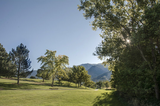 path into the utah wasatch mountain range during summer