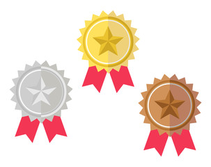 Gold, Silver, Bronze Competition Award Prize vector