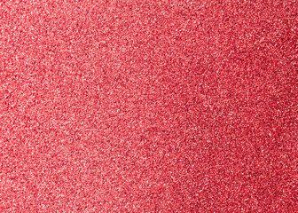 Red glitter texture metallic background for Christmas holiday decoration backdrop design element