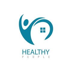 Healthy people logo