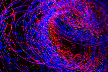 multicolored abstract lights motion blur
