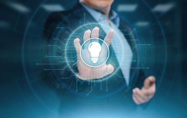 Light Bulb innovation Solution Business Technology Concept