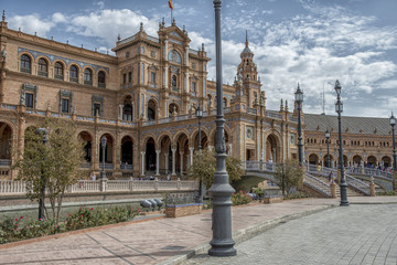 Seville - Spain and the Plaza de España