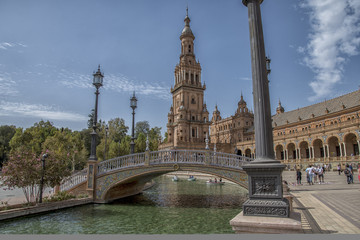 Seville - Spain and the Plaza de España
