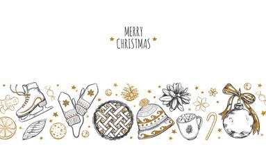 Merry Christmas festive Background.