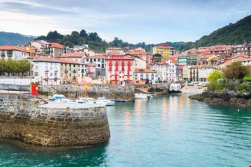 beautiful maritime town of mundaka, basque country