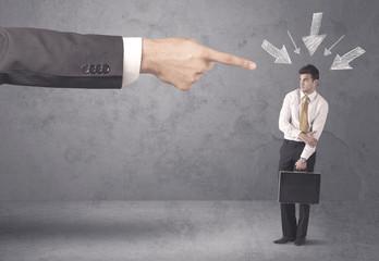 Amateur businessman under pressure