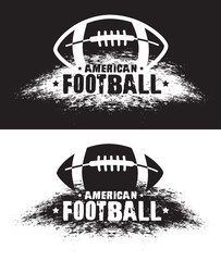 American football. Vector emblems, print for t-shirt. Vector american football logo