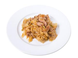 Chicken cabbage stir-fry.