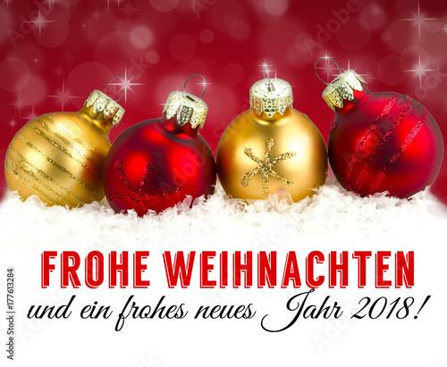 Frohe Weihnachten und ein frohes neues Jahr 2018\