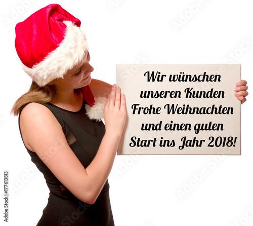 Wir wünschen unseren Kunden Frohe Weihnachten und ein gutes neues ...
