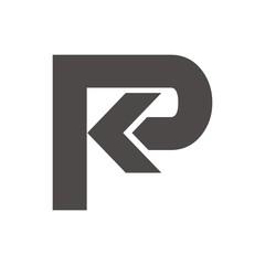 PK or KP logo initial letter design template vector
