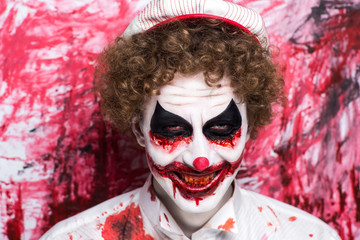 Clown joker make up