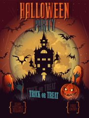 Halloween poster, card, background.